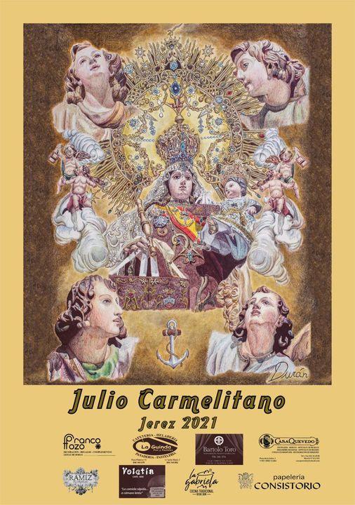 Cartel 2021 de la Real Hermandad de Damas y Caballeros de Ntra Sra del Carmen Coronada Jerez