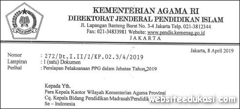 Pendaftaran PPG Tahun 2019 Kemenag