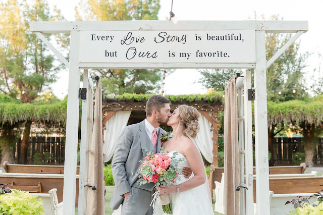 Shenandoah Mill in Gilbert AZ Wedding Photo of Bride and Groom by Micah Carling Photography