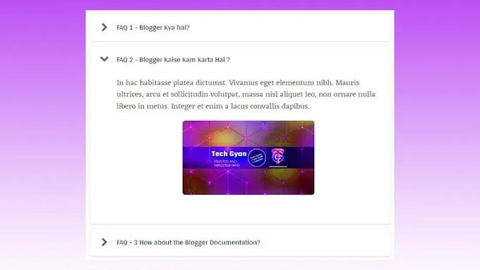 Stylish FAQ Accordion Widget For Blogger |  jQuery
