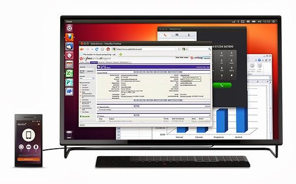 Tampilan Ubuntu Touch OS