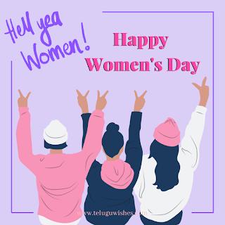 Hell yea women! Happy women's Day, Women's Day Instagram Posts
