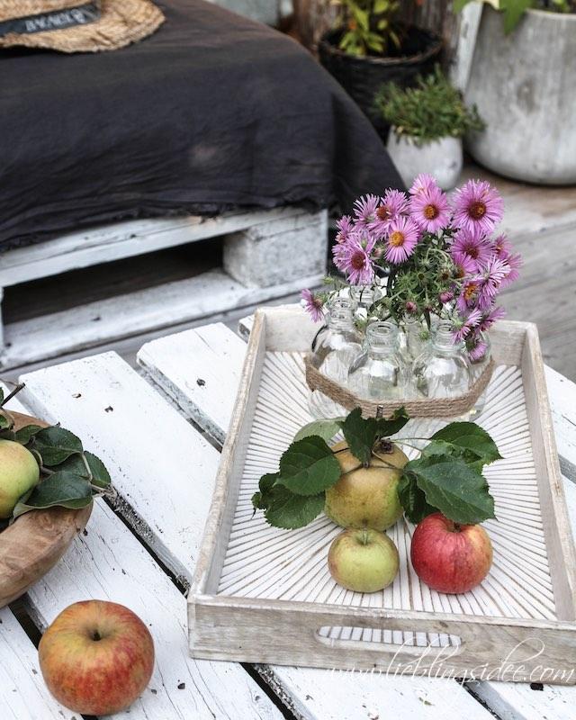 Gartendekoration Tablett Vase