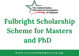 Fulbright Scholarship for Masters and PhD 2021