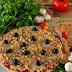Pizza Anabólica (com base de batata doce e aveia)