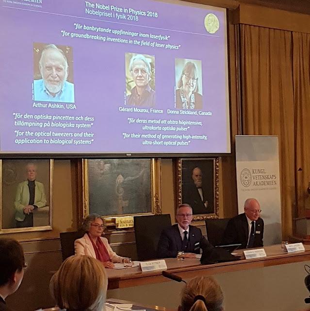 Otorgan el Nobel de Física a tres innovadores en el campo del láser