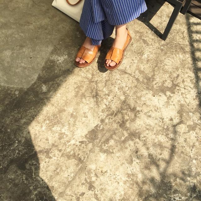 小節休息寬版涼鞋老幫手實穿