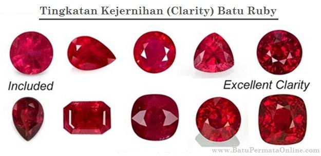 Tingkat Kejernihan (Clarity) Batu Ruby