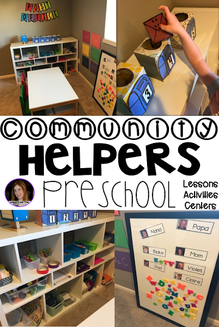 Are you looking for a fun hands-on community helper and fire safety themed unit that revolves around amazing stories and is appropriate for your preschool classroom? Then, you will love Community Themed Helper and Fire Safety Unit for Preschool. Post Office Ideas.