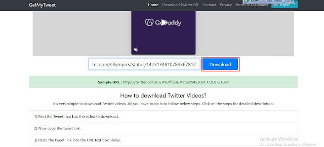 GetMyTweet - Cara Mendownload Video di Twitter Cepat dan Mudah | Ladangtekno
