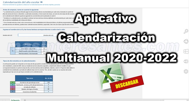 Aplicativo de calendarización multianual