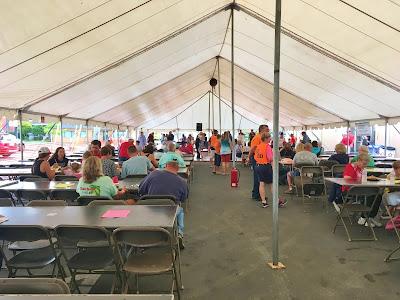 inside tent - Perch Peach Pierogi Polka Festival