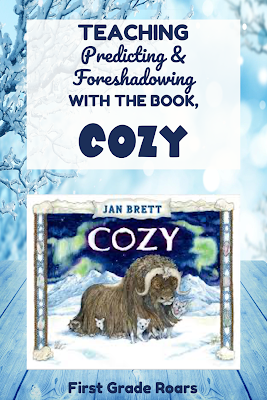 This free activity pack will help your students predict, and recall all of the the foreshadowing Jan Brett uses in her borders with the story Cozy.