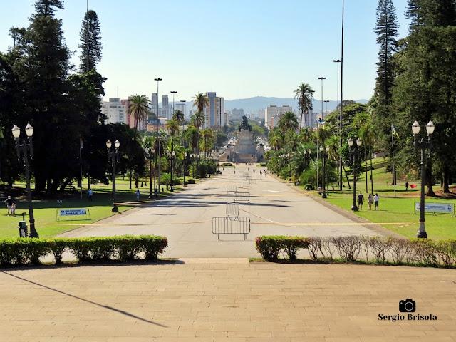 Vista do Parque da Independência interditado para skates - Julho 2020