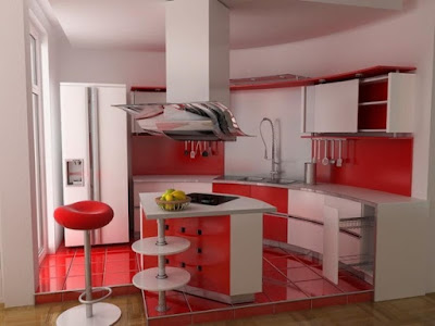 Latest modern red kitchen cabinets and interior design catalogue