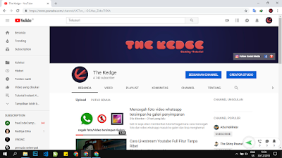profile dan banner channel