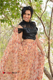 Actress Chetana Uttej Stills in Floral Long Skirt at Pichiga Nachav Movie Press Meet  0007.JPG