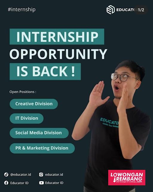 4 Posisi Magang Bimbel Educator ID Rembang CV Edukasi Tutor Indonesia