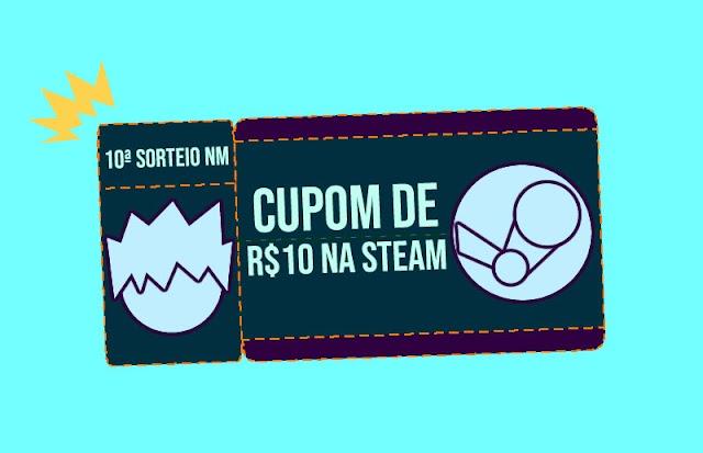 Sorteio de cupom de R$10 na steam! (semanal)