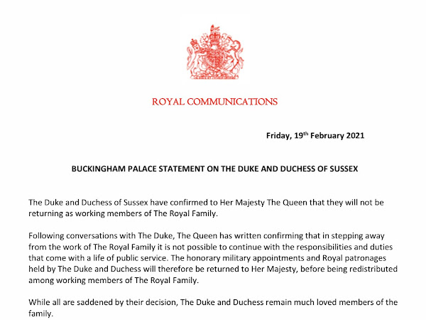 Oficjalnie: Książę i księżna Sussex nie wracają do królewskich obowiązków!