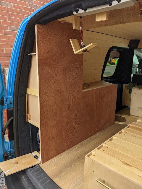 vw caddy maxi camper build interior