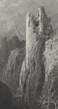Les tours en ruines sont un sujet du Romantisme au XIXème siècle