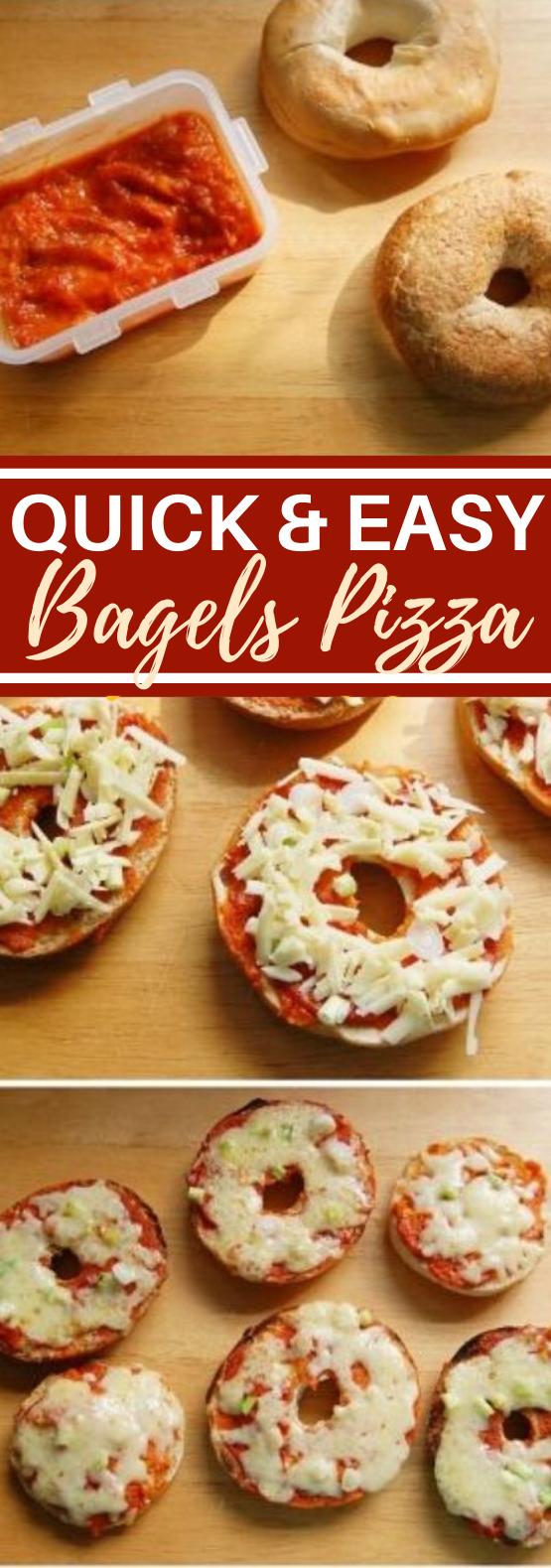 Freezer Pizza Bagels #easy #lunch #dinner #mealprep #quick