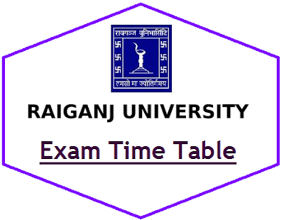 Raiganj University Exam Routine 2021