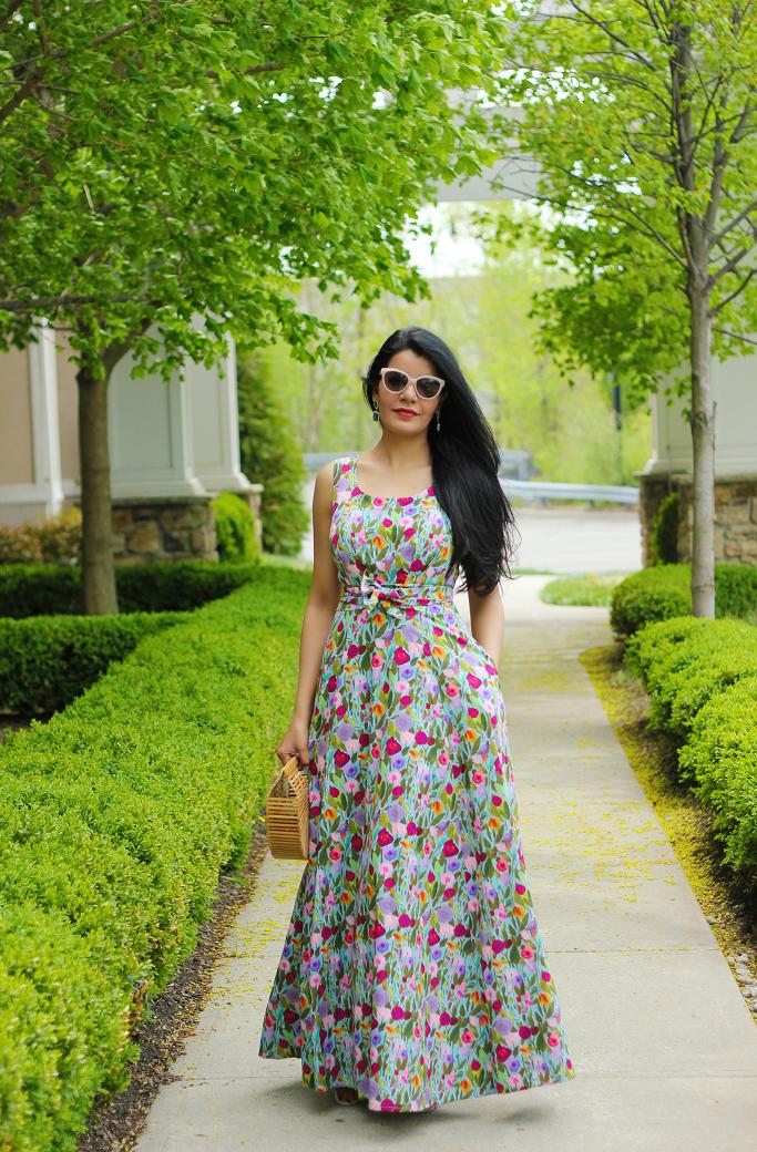 eShakti Dress, Floral Maxi, Floral Dresses, Spring dresses, Summer Dresses, eShakti review