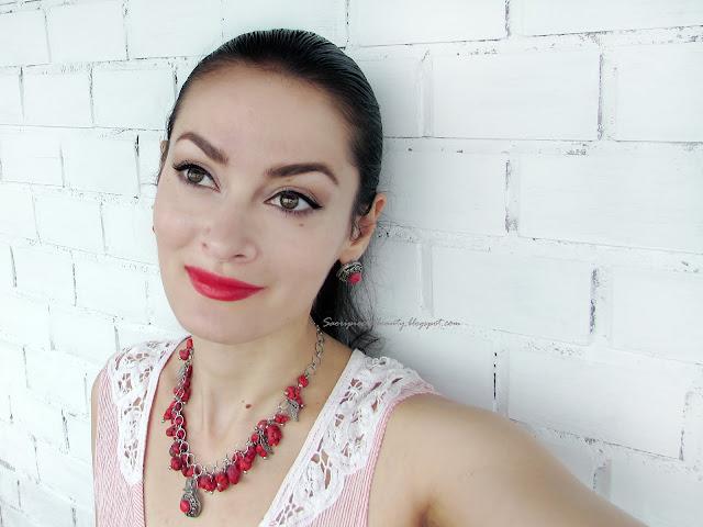 Огненно-красная матовая помада от Avenir cosmetics / блог A piece of beauty