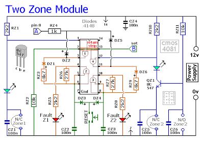 Expandable Multi-Zone Modular Burglar Alarm