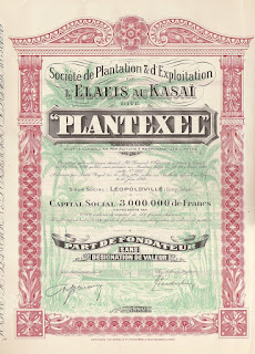 share certificate from Plantexel