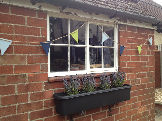 Mrs Bishop's finished garden bunting