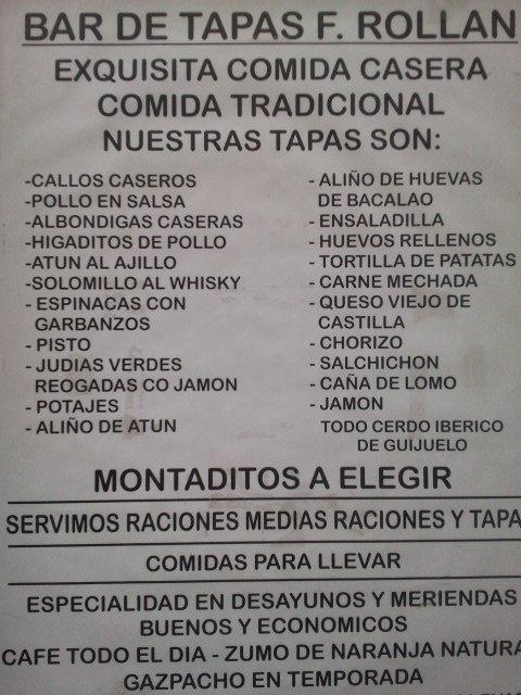 Bar Rolln Sevilla Men diario