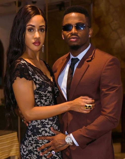 Diamond Platinumz Spotted Making Out With Tanasha Donna In The Ocean
