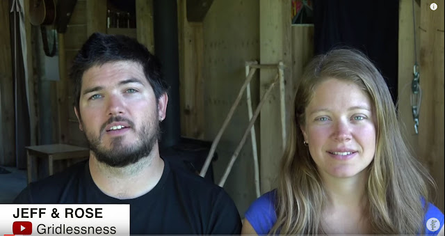 Screen Capture From The Video:  Family Of Seven Lives Off-Grid - Jeff And Rose