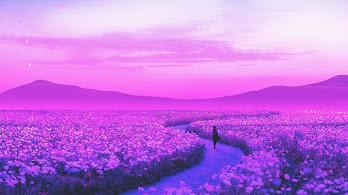 Flower, Field, Lavender, Landscape, Scenery, Digital Art, 4K, #6.2499
