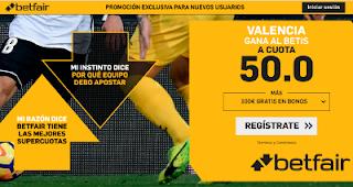 betfair supercuota Valencia gana Betis 28 febrero 2019