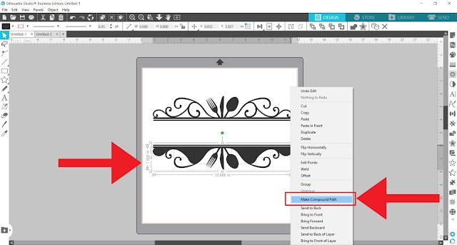 split monogram, monogram, custom designs, silhouette studio v4, make compound path