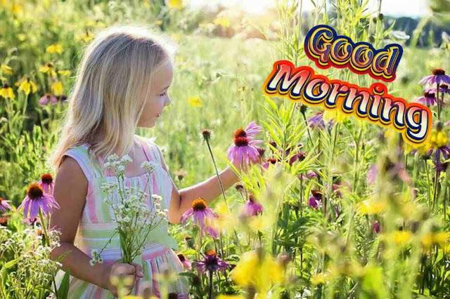 Awesome good morning image of beautiful girl