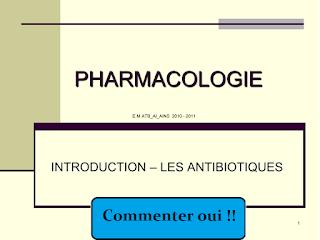 PHARMACOLOGIE INTRODUCTION AUX ANTIBIOTIQUES  .pdf