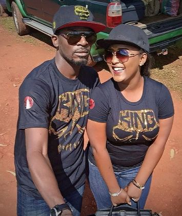Newly married John Njamah steps out with Cameroonian wife