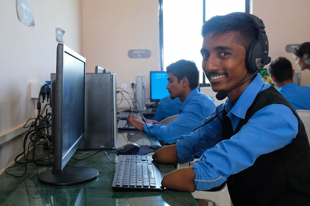 A student at one of ACF's skilling centres (SEDI)