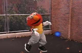 Dorothy then imagines Elmo playing handball. Sesame Street Elmo's World Hands Tickle Me Land