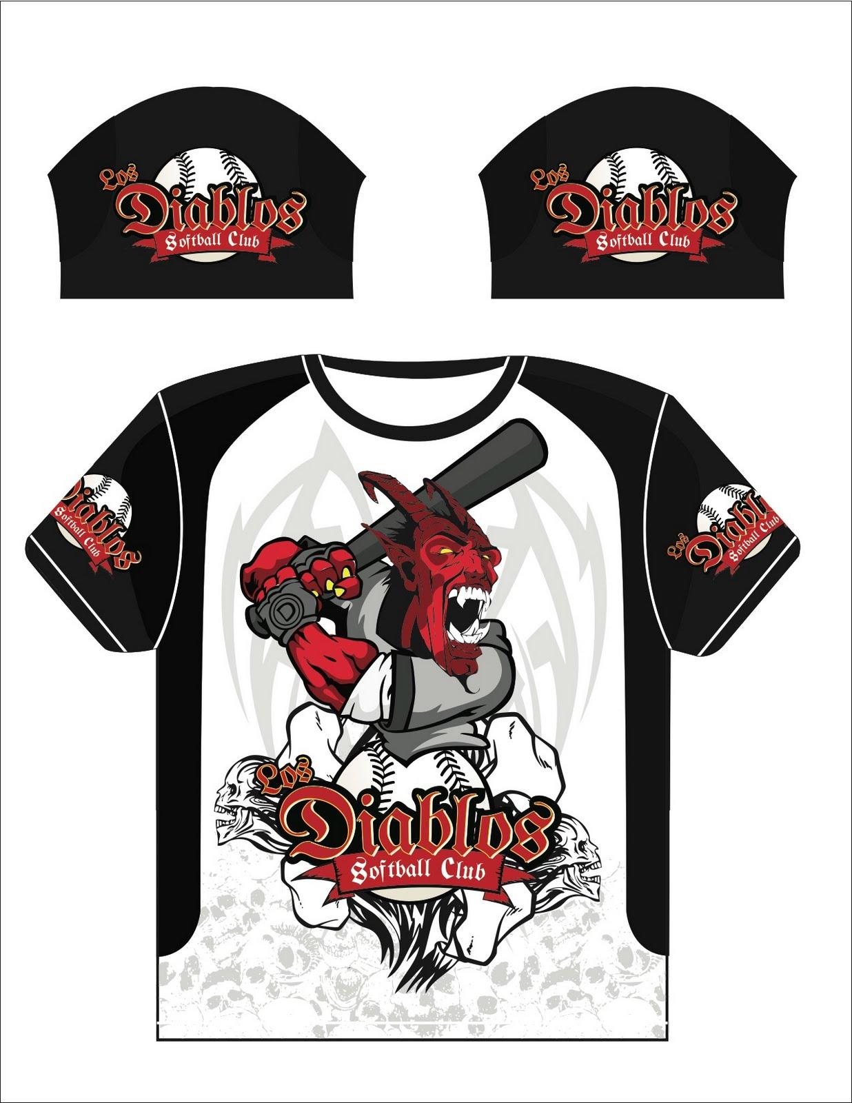 Alex Herrera - Graphic Design: Los Diablos - Softball Jersey ...