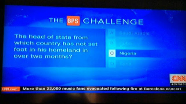 CNN Mocks Nigerians Over Buhari's Long Absence From The Country
