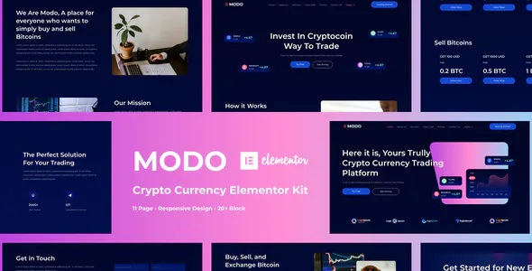 Best Crypto Currency Elementor Template Kit