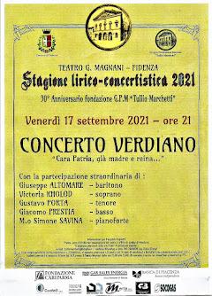 Stagione lirico-concertistica 2021 - Concerto Verdiano