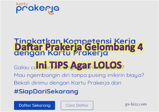 LOGIN www.prakerja.go.id, Daftar Kartu Prakerja Online Gelombang 4