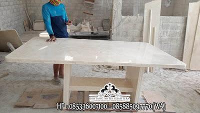 Meja Marmer Tulungagung, Meja Makan Marmer Kotak, Meja Batu Marmer